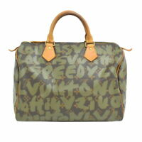 LOUIS VUITTON M92194 SPEEDY 30 HAND BAG MONOGRAM GRAFFITI EX++ RARE