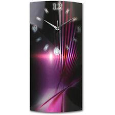 Abstrakt Pink Designer Wanduhr Funkuhr leise modernes Design ** Kreative Feder *