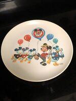 Vintage Disney MICKEY MOUSE CLUB Plate Donald Duck Huey Dewey Louie Disneyana