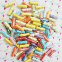 100Pcs Message in a Bottle Capsule Letter Cute Love Gifts Paper Friendship U5M7