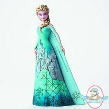 Disney Traditions Frozen Elsa w/castle Dress Figure By Enesco