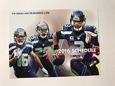 SEATTLE SEAHAWKS 2016 SCHEDULE LITTLE POSTER