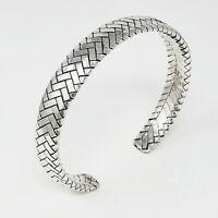 Heavy 925 Silver Cuff Bangle Bracelet for Men, Mens Solid Silver Cuff 36.9grs
