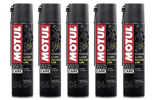 5 X 400 ML Grasso Spray per Catena Motul C4 Chain Lube Factory Line Racing Road