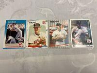 1987 1988 1989 Fleer Wade Boggs + 1989 upper deck (4) card lot Boston RED SOX