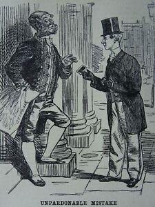 Carte de Vista AN UNPARDONABLE MISTAKE Original 1862 Victorian Print