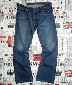 "mens *W36"" L32"" Abercrombie & Fitch 'BAXTER' Jeans Low Rise Slim Boot Cut Denim"