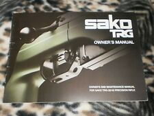 Sako Trg 22/42 Operators Manual - Genuine Oem - New