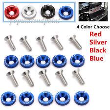 40 x Aluminum Bumper/Fender/Engine Bay Screw/Washer/Bolt Dress Up Kit 4 Color