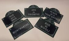 Vintage French Enamel sign  / Place Names Plaques