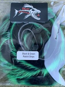 Black & Green Rabbit Strips 3mm