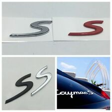 x1 High Quality ABS Red S Decal Emblem Badge Sticker RearBoot for Porsche GTS