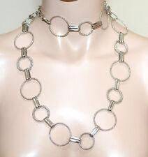 Collier long femme argent ceinture de bijoux ras du cou élégant cadeau fête A23