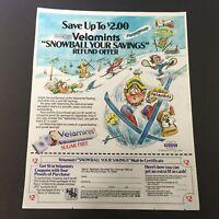VTG Retro 1985 Velamints Sugar Free Peppermint Gums Print Ad Coupon