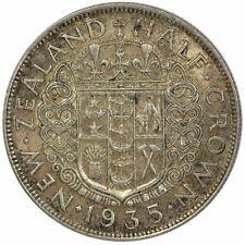 New Zealand 1935 Half Crown Coin gEF KEY DATE