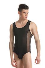 Body débardeur noir taille L/XL [ 175-185 cm ] sheer sexy Ref 329 combinaison