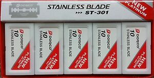 100 Dorco ST301 Double Edge Razor Blades - Stainless Blades - FAST Shipping