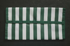 Dark Green Stripe Hannah Hansen Coupon Organizer
