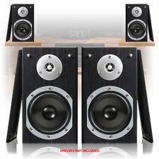 "Home Audio System Stereo HiFi 5"" Bookshelf Cinema Surround Sound Speakers 280W"