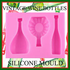 VINTAGE BOTTLES SILICONE MOULD. PERFECT FOR FONDANT SUGAR CRAFT.CHOCOLATE. ECT
