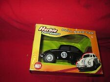 HERBIE THE LOVE BUG black VW BEETLE PULL BACK ROLL BACK PULLBACK fully loaded