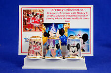 Merry Christmas With Mickey & Minnie 2017 Box Set of 3 Thimbles + Card B/92