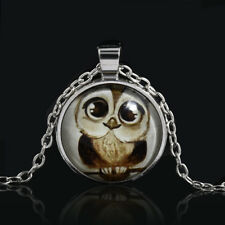 Women Round Owl Choker Pendant Silver Chain Necklace new Accessories Jewelry U