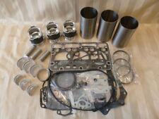 Kubota D1703 Engine Overhaul Kit / Liners, Pistons, Rings, Bearings, Gasket Set