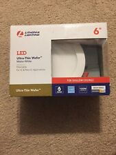 Lithonia Lighting Ultra-Thin Wafer 6 in. White Integrated LED Recessed Kit