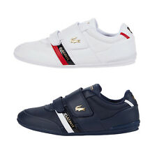Mens Lacoste MISANO Strap 0120 Leather Sneakers with Hook and Loop NEW