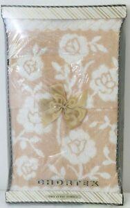 Brand New Vintage Chortex Towel Set - 2 Guest Towels - Peach