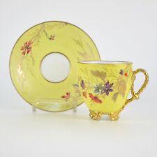 Tasse en porcelaine à décor émaillé floral fin 19ème
