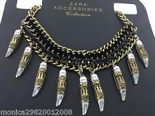 Zara or Argent Noir Collier Chaîne