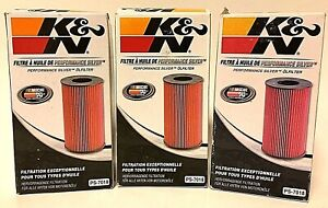 Lot of 3 K&N Oil Filters PS-7018 High Flow Fits 10-18 Tundra/Grand Cherokee