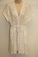 NWT Profile by Gottex Swimsuit Bikini Cover up Tunic Dress Sz S White Hooded