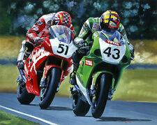 Chris Walker Niall McKenzie Kawasaki Moto Racing Moto Art Print