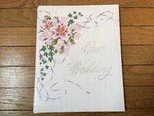 Unused Vintage Wedding Bridal Shower Memory Scrapbook Planner Book