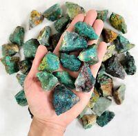 Rough Chrysocolla Crystals - Bulk Raw Gemstones - Healing Crystals from Brazil