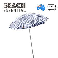 Outdoor Beach Umbrella 1.8m Shade w/ Carry Bag Tilt Pool Leisure LAZY DAYZ AU