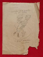 POULBOT  :  DESSIN ORIGINAL SUR PAPIER 1924   !