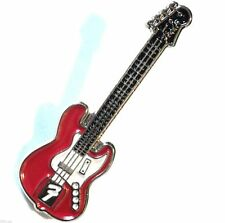 red  guitar pin badge