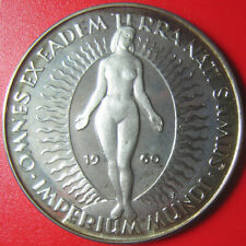 1960 GERMANY ARGENTEUS 1 DUCAT SILVER PROOF NUDE FEMALE CHILDREN OF EARTH RARE!