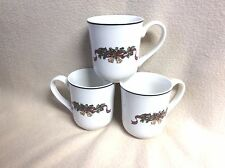 NWT 3 JOHNSON BROTHERS COFFEE MUGS~VICTORIAN CHRISTMAS~England