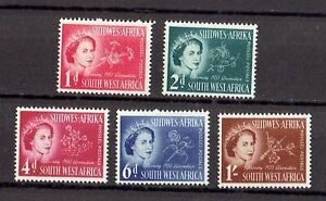 SOUTH WEST AFRICA SG#149-153. QUEEN ELIZABETH II CORONATION Full set of 5  MNH