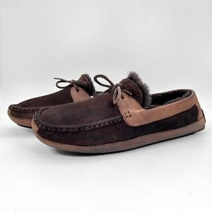 UGG Australia Mens 5102 Byron Cappuccino Suede Brown Moccasin Shoes Sz US 12
