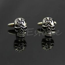 Classic Stainless Steel Skull Novelty Shirt Cuff Links Men's Wedding Party Gift