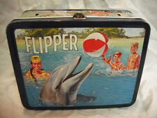 1966 Flipper Lunch Box - No Thermos * Vintage * RARE CANADIAN - No Handle & Dent