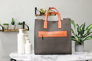 Michael Kors Kenly Tangerine Large NS Tote Shoulder Handbag Computer Bag
