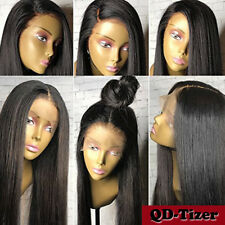 Brazilian Remy Human Hair Front Lace Wigs Silky Straight Glueless Full Lace Wig