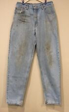 Men's Levi Strauss 560 Jeans 34 X 34 Loose Fit Tapered Leg Grunge Rocker Worn